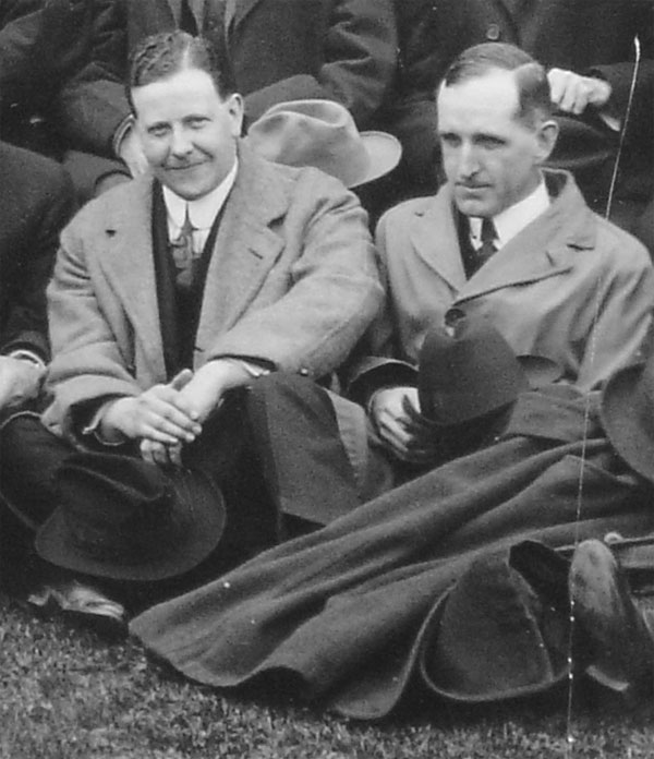 Dr. Robert D. Defries (1889-1975) (left) with Dr. John G. FitzGerald, in a rare photo of these two public health pioneers together, taken at a meeting of the Canadian Public Health Association in 1921.