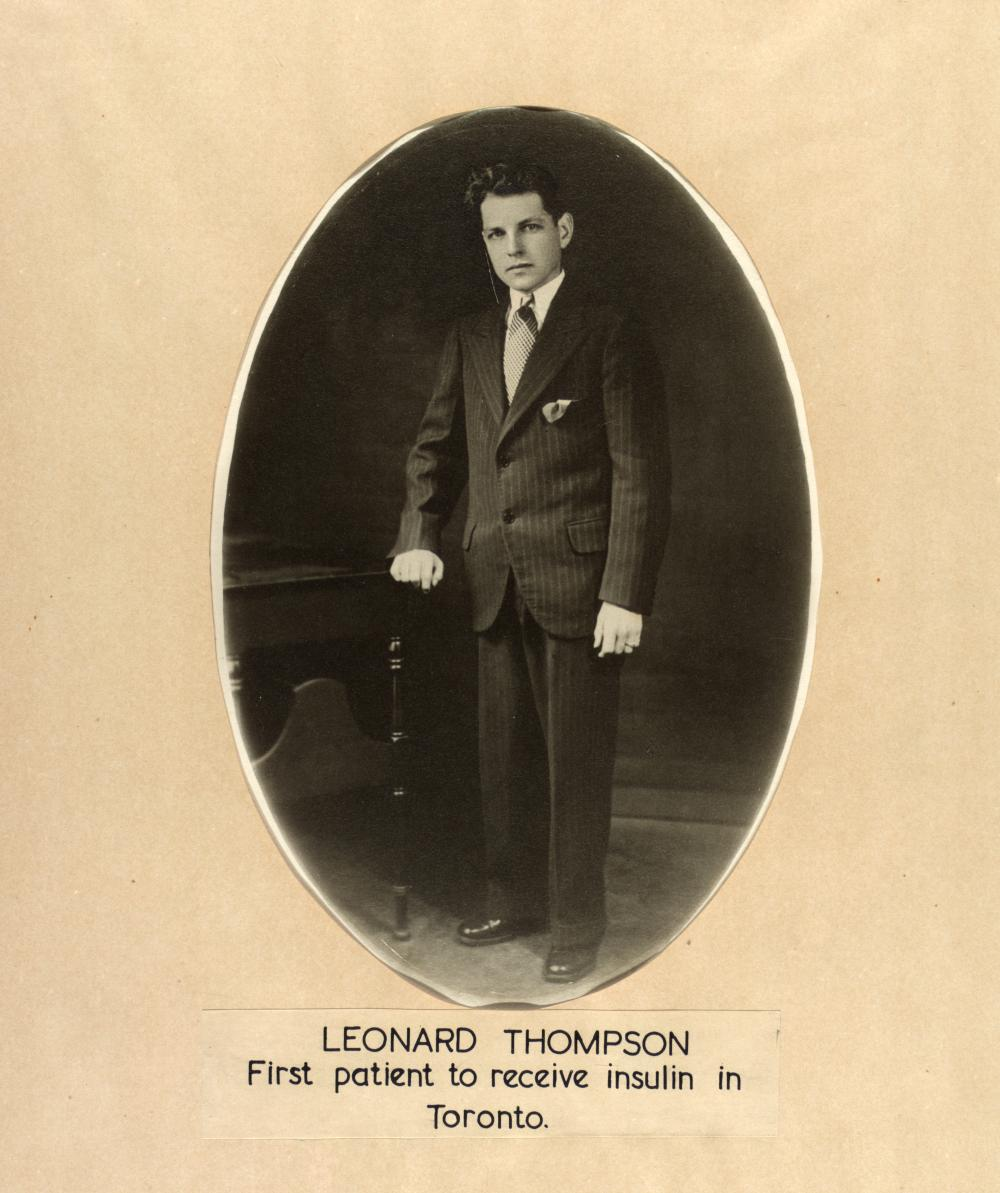 """Leonard Thompson was the first person to be successfully treated with what would later be called """"insulin"""" in January 1922."""