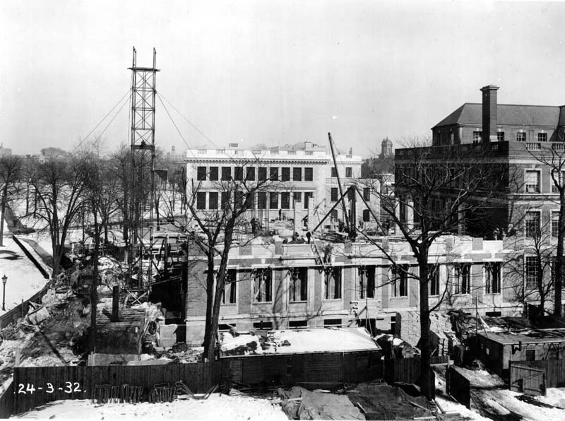 School of Hygiene Building, northern extension, under construction, March 24, 1932.