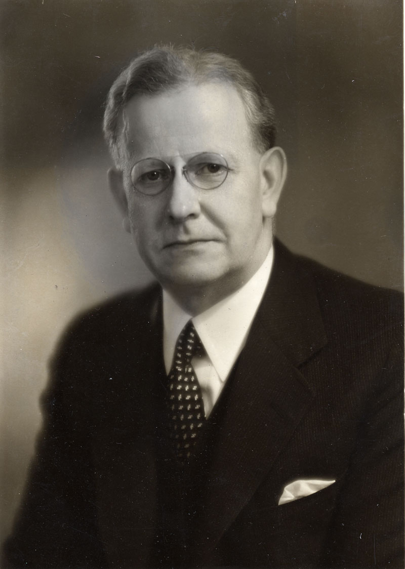 Portrait of Dr. Robert D. Defries taken by photographer, Ashley Crippen in the 1940s.