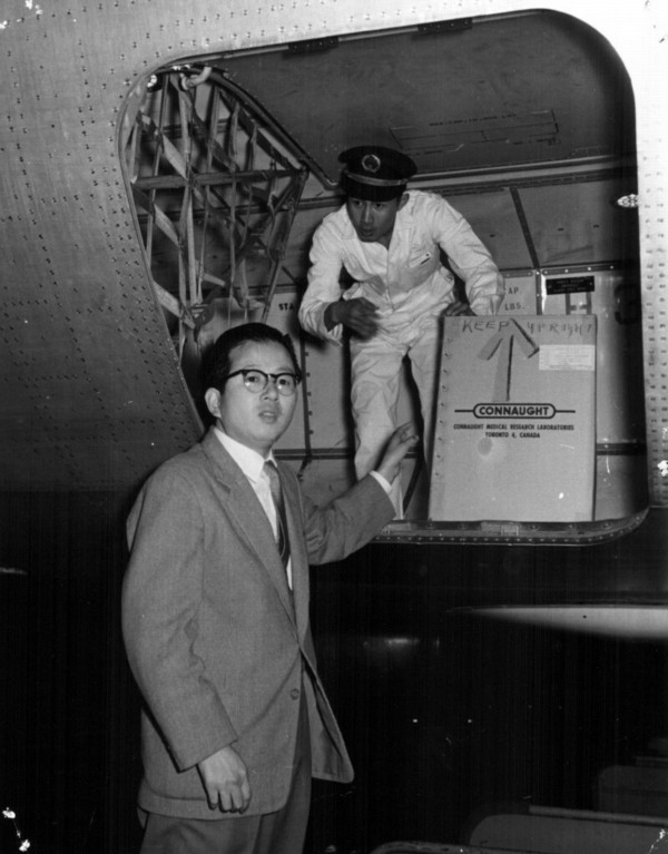 In June 1961, Connaught was hosting several doctors and scientists from Japan to learn about OPV production when news arrived of a major polio epidemic beginning in Japan. Although Connaught's vaccine was not yet licensed in Canada, enough was known about its effectiveness and safety to expedite Japan receiving 3 million doses within three weeks.