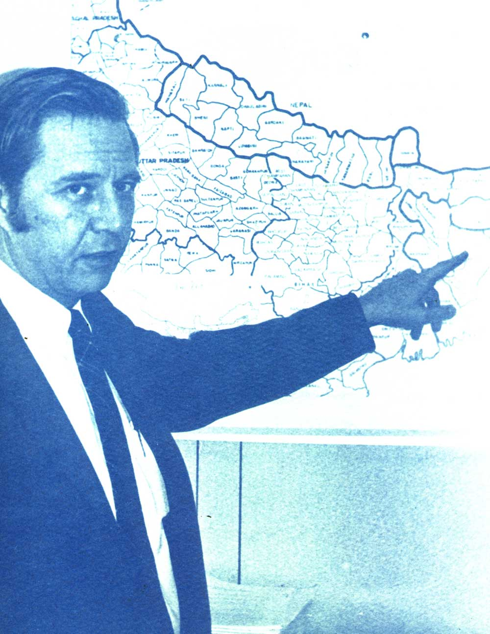 Photo of Dr. Donald A. Henderson from an America Public Health Association publication of 1975.