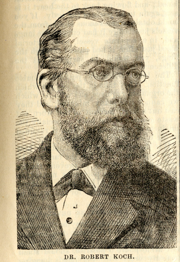 Robert Koch (1843-1910) as depicted in the August 1884 edition of the Dominion Sanitary Journal.