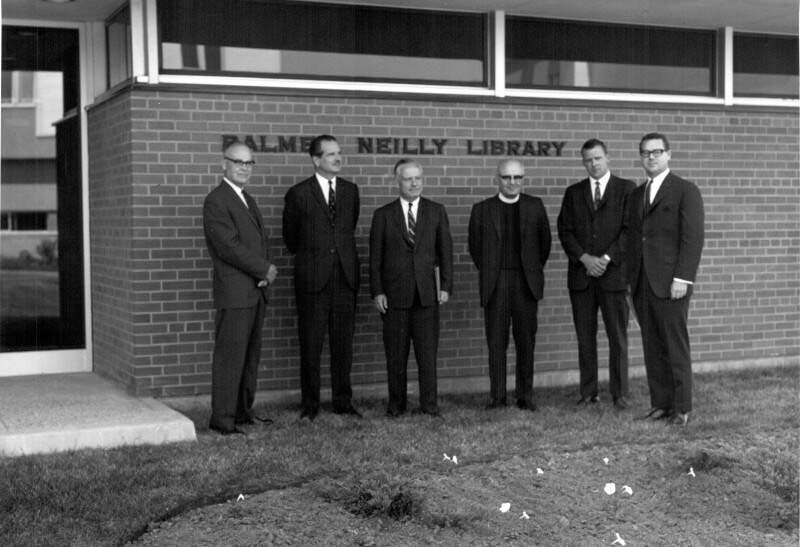 Official opening of Balmer Neilly Library, Building 84, June 27, 1967. Among the dignitaries attending was Dr. J.K.W. Ferguson, CMRL Director.