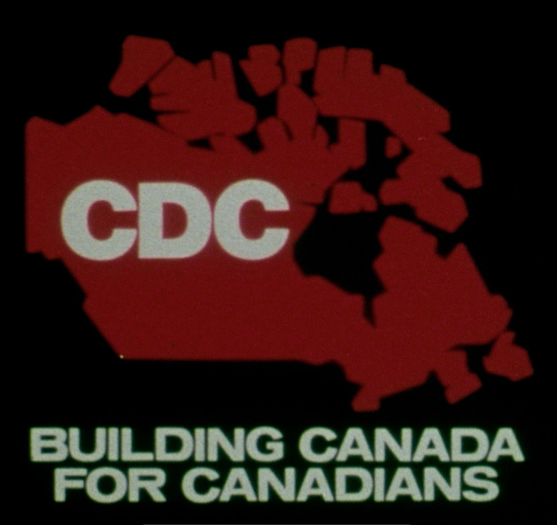 "Title image from a 1981 film about the Canada Development Corporation entitled ""Building Canada for Canadians""."